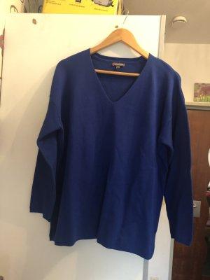 Street One Jersey con cuello de pico azul Viscosa