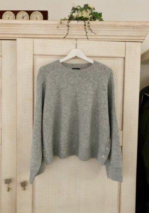 Topshop Pull tricoté gris clair-argenté tissu mixte