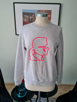 Karl Lagerfeld Crewneck Sweater silver-colored