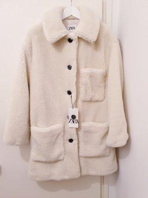 Neuer Teddyfell Mantel von Zara, Gr. M
