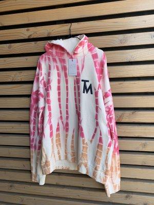 (The Mercer) NY Sweter oversize różowy-biały