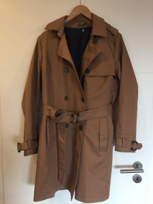 Yessica Trench Coat light brown-dark blue
