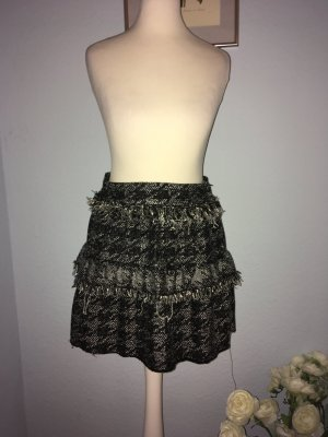 Zara Woman Tweed Skirt black-white