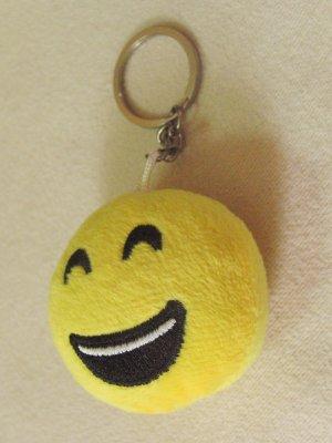 Neuer, unbenutzter SCHLÜSSELANHÄNGER SMILEY lachend, weich, gepolstert