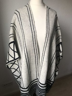 Vera Moda Knitted Poncho cream-black
