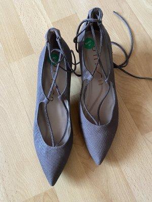 Unisa Escarpins à lacets gris brun-taupe