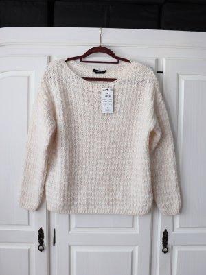 Neuer weiß rosa Pullover von Reserved Größe M lockerer Schnitt
