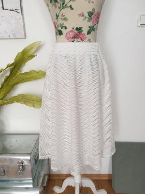 Daphnea Rok met hoge taille wit