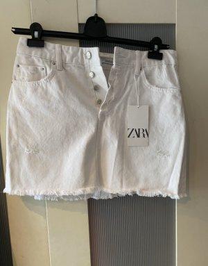 *NEUER* weißer Zara Jeansrock