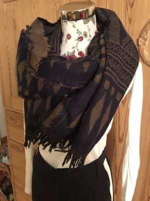 Neuer Winter Schal * Scalf *dunkelblau/braun