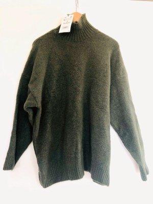 Neuer Wollpullover Grün von ZARA