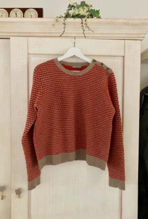 COS Wool Sweater light brown-neon orange mixture fibre