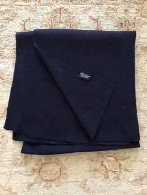 Zara Bufanda de punto azul oscuro