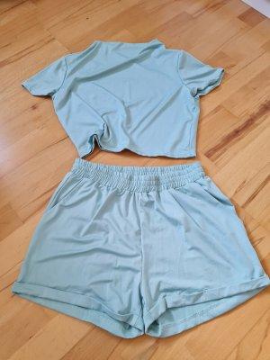 Blue Vintage Kurzer Jumpsuit babyblauw