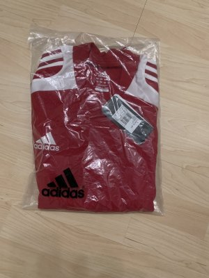 Adidas Camisa deportiva rojo oscuro-blanco