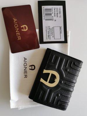 Aigner Card Case black leather