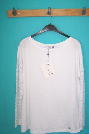 AJC Koszulka z długim rękawem biały Bawełna