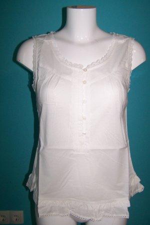 Aniston Blusa senza maniche bianco Cotone