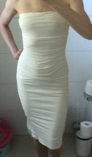 Velvet by Graham & Spencer Sukienka z dekoltem typu bandeau biały