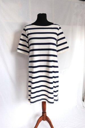 Neues beige dunkelblau gestreiftes Kleid von H&M Größe S