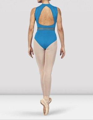 Bloch Maillot de bain bleu fluo