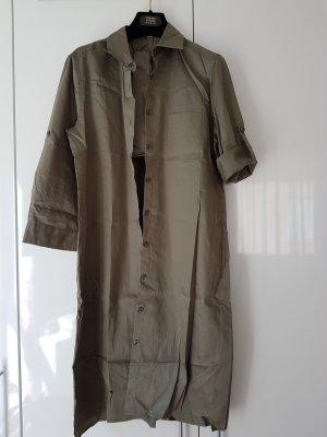 0039 Italy Robe chemisier kaki coton