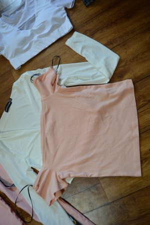 Neues Carmen Rippen T-Shirt Gr. 38 H&M Divided