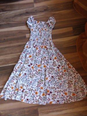 Cross Letnia sukienka pomarańczowy-stalowy niebieski