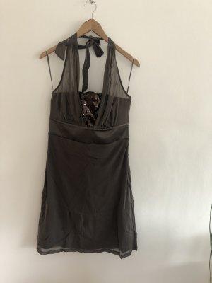 Neues Cocktail Kleid von Esprit mit Pailletten Olive Größe L