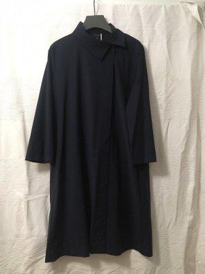 COS Sukienka płaszczowa ciemnoniebieski Wełna