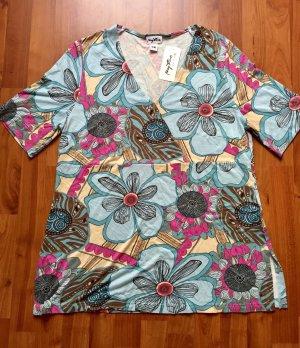neues Damen Shirt von My Line, Größe 44/46, kurzarm, mit Etikett, Wickeloptik