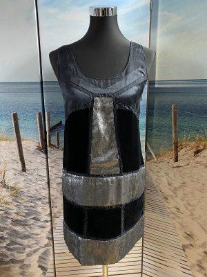 Diane von Furstenberg Robe courte noir-argenté
