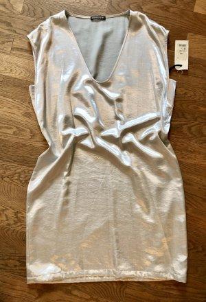 Neues Drykorn Kleid, metallic Silber, A-Linie,