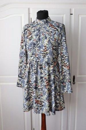 Neues edles schickes florales Blumen Kleid von Zara Größe M 38 Langarmshirt