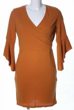 Parisian Evening Dress cognac-coloured