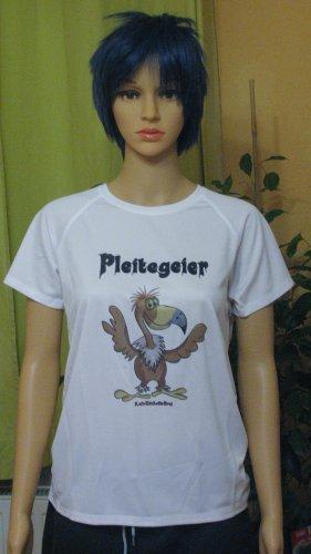Neues, extracooles T-Shirt/Sportshirt mit lustigem Druck :)..weiss..Größe Medium, DE 38