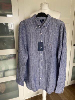 Gant Oversized blouse blauw-wit Linnen