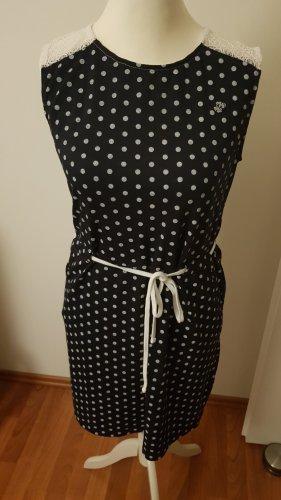 PEAK TIME Sukienka dresowa biały-ciemnoniebieski