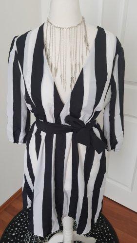 neues gestreiftes Sommerkleid mit gürtel gr m
