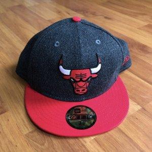 New Era Gorra de béisbol gris antracita-rojo