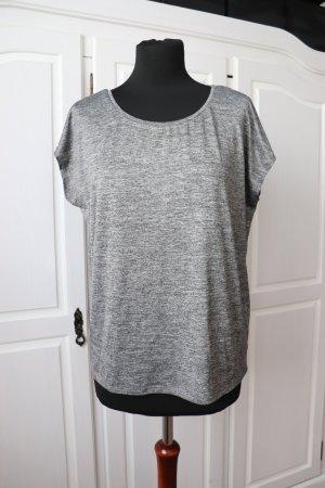 H&M Sports Shirt light grey-grey