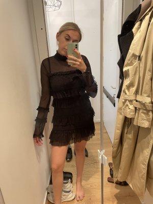 Neues Guess Kleid mit Rüschen und transparenten Einsätzen