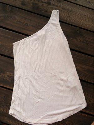 H&M Haut avec une épaule dénudée blanc cassé-blanc