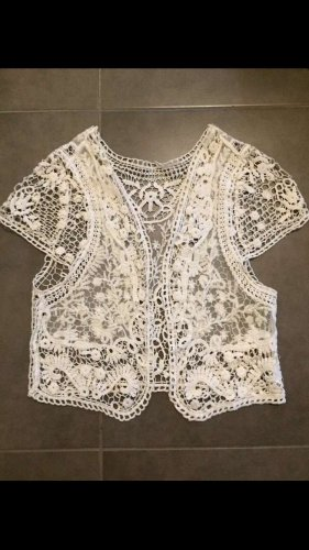 Crochet Cardigan white