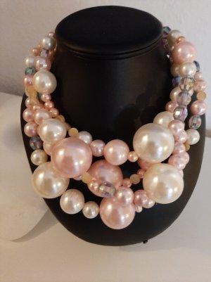 ART SHOP Collier rosa pallido-crema
