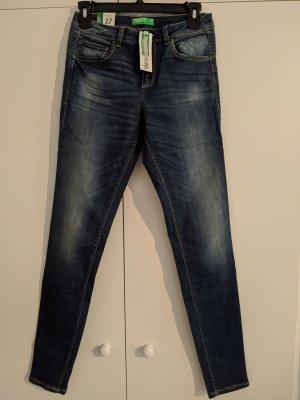 Benetton Jeans skinny blu acciaio-blu scuro Cotone
