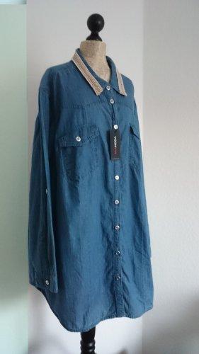 Mia Moda Blouse en jean bleuet coton