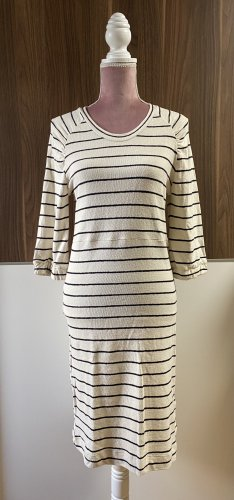 Cream Knitted Dress natural white-black
