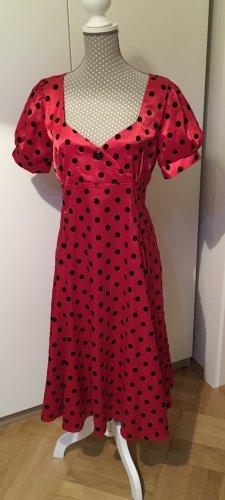 Collectif Shortsleeve Dress black-dark red