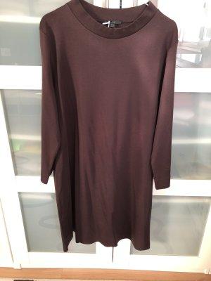 COS A Line Dress brown violet